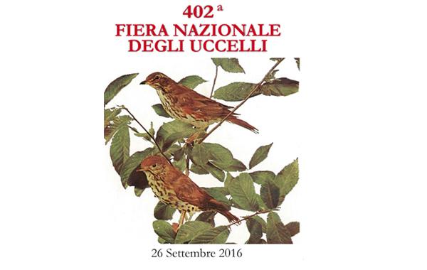 402° Fiera nazionale degli uccelli  26 Settembre 2016