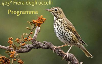 Programma Fiera degli uccelli 2017